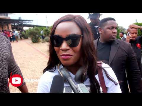 Juliana Kanyomozi arrives at Kigali international airport for Charly&Nina Concert