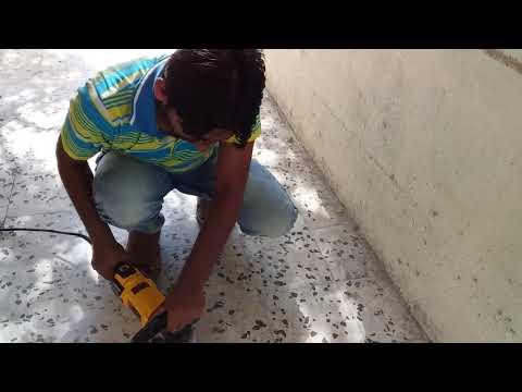 Testing DeWalt Polisher using Resin Diamond Pad Grit #50 Abu Dhabi,UAE