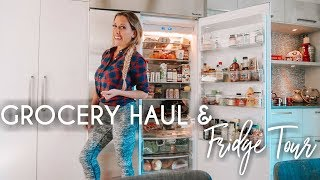 Grocery Haul and Fridge Tour   My Full Healthy Meal Plan