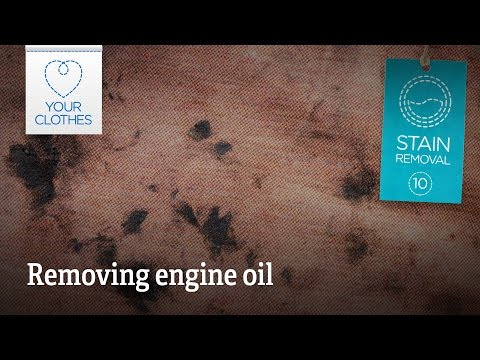 Stain removal: how to remove engine oil stains from clothes