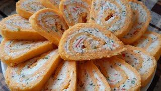 Рулет с ТВЕРДОГО СЫРА не помешает на праздничном столе Оригинальная сырная закуска