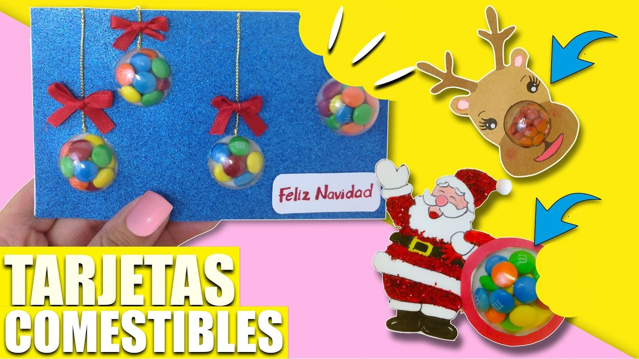 Tarjetas comestibles manualidades faciles regalosideas - Manualidades faciles navidad ...