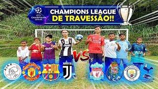 UEFA CHAMPIONS LEAGUE de TRAVESSÃO 2019 QUARTAS DE FINAL! DESAFIOS DE FUTEBOL #01 ‹ Rikinho ›