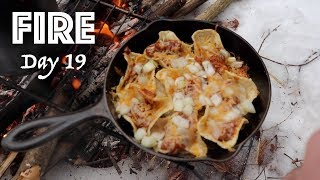 Chili Cheese NACHOS on a Campfire! | 28 Day Fire Challenge | Food & Fire