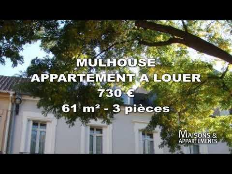 MULHOUSE - APPARTEMENT A LOUER - 730 € - 61 M² - 3 Pièces