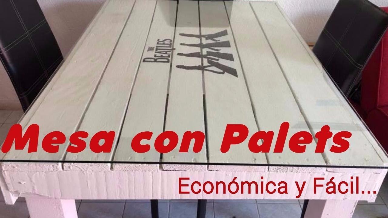 COMO HACER UNA MESA CON PALETS  DIY COMEDOR TARIMA  HOW