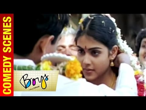 Boys - Tamil Movie | Siddarth and Genelia get married | Vivek | Shankar | A R Rahman