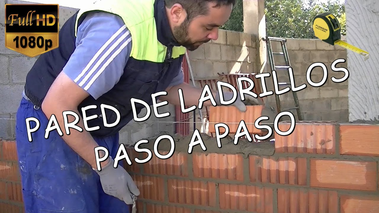 Como hacer una pared de ladrillos paso a paso youtube Construir una pileta de ladrillos
