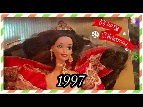 1997 / 28 Years of Holiday Barbie Dolls! / Christmas Collection Advent / 1997 Happy Holidays Doll