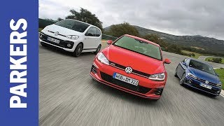 VW Golf GTI vs Polo GTI vs Up GTI | Which is the most fun?