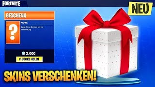 NOW you can give as a gift in Fortnite skins ! The New Gift System in Fortnite