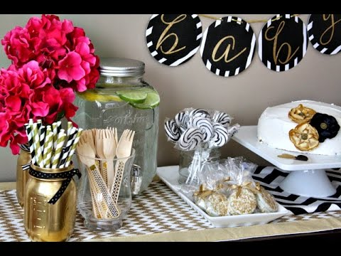 black and gold baby shower youtube