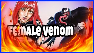 Venom tanks hits if there was a female skin of venom