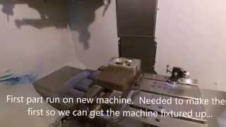 Haas DM1 and Groove Automation ProCam Hi Def Video Camera Demo 11 2015