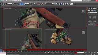 3DS MAX Making Mini 14f reload animation (ВИДЕОУРОКИ; 3ds Max; 3D Modeling; 3D Моделирование)