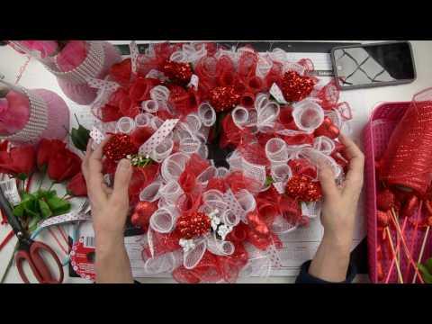 DIY Valentine Heart Wreath: Using Dollar Tree Supplies