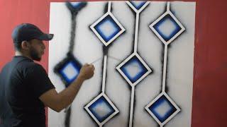 طريقة رائعة لعمل ديكور حائط ثري دي مودرن حديث(اصنعها بنفسك) inexpensive DIY modern wall design