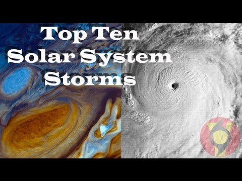 The Top Ten Storms in the Solar System