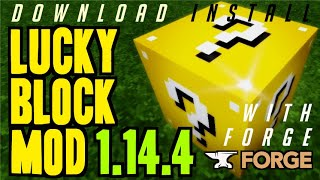LUCKY BLOCK MOD 1.14.4 minecraft - how to download & install Lucky Block 1.14.4 (with Forge)