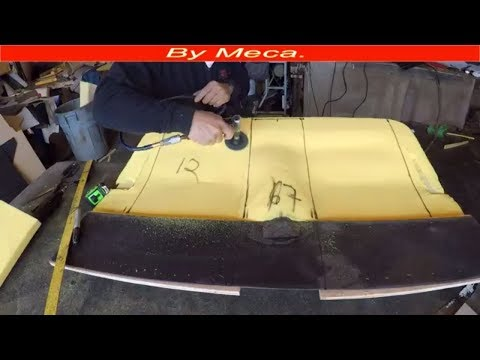 How to make  a 1927 ford interior, Shaping it the seat with foam part 2-3. auto upholstery