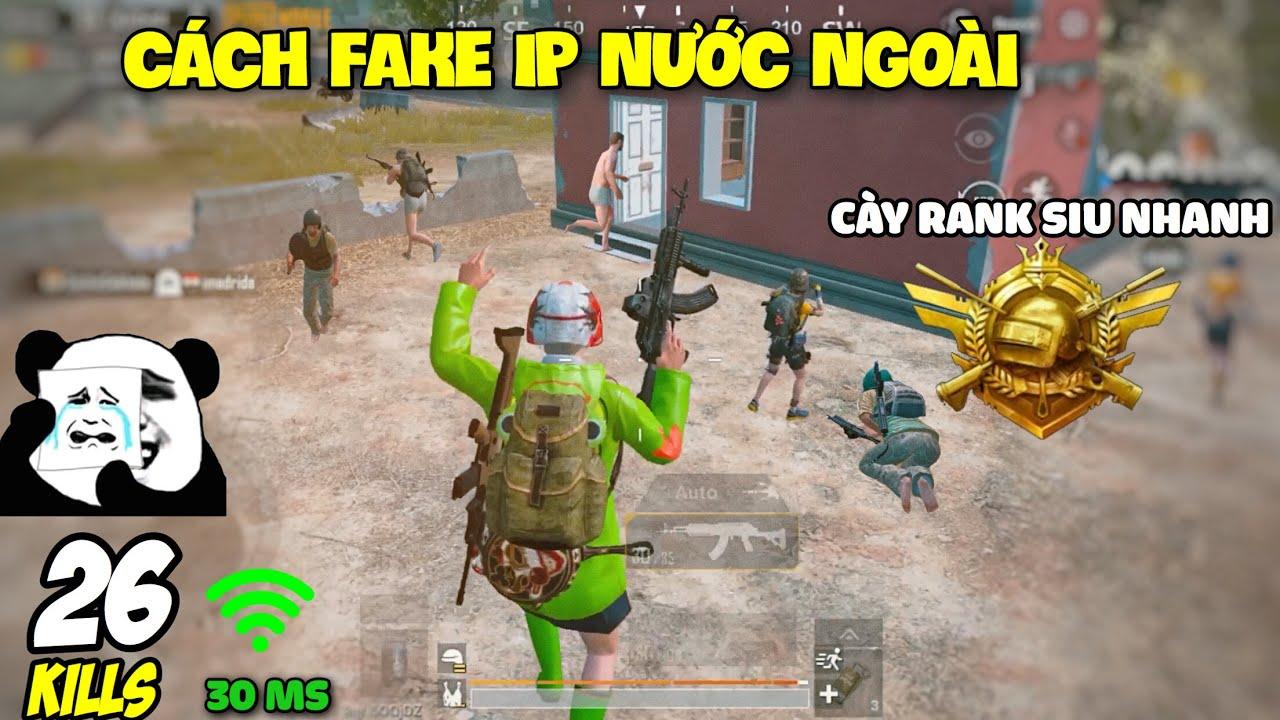 PUBG Mobile | Hướng Dẫn Fake IP Qua Ấn Độ Cày Rank Chí Tôn (Conqueror) Cực Nhanh|Solo Squad 26 Kills