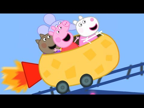 Peppa Pig English Episodes | Peppa Pig's Roller Coaster FUN! Peppa Pig Official