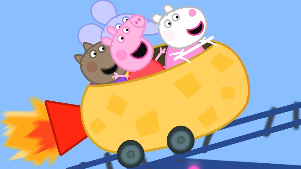 Peppa Pig English Episodes | Peppa Pig's Roller Coaster FUN! | 1 Hour | Cartoons for Children #168