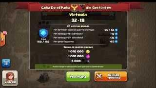 Guerra de clanes en CaÑa De eSPaÑa primera victoria Clash Of Clans Español!