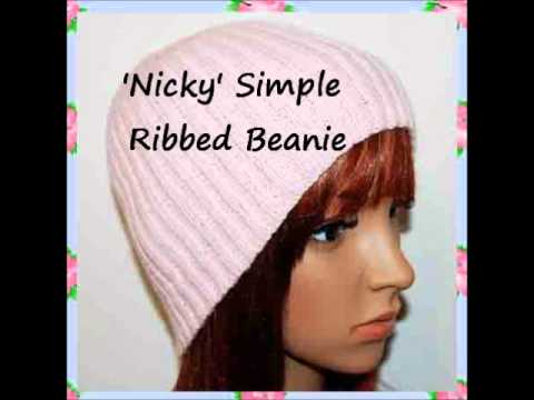 Nicky 4 Ply Yarn Simple Easy Ribbed Beanie Hat Knitting Pattern