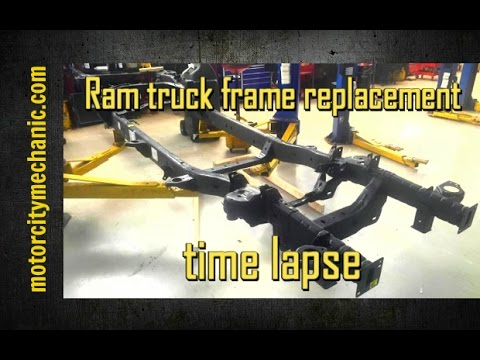 Ram truck frame replacement time lapse