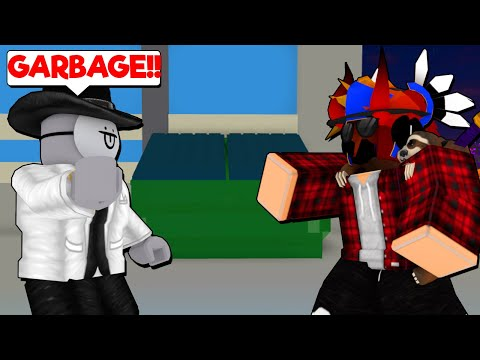 We Both ROASTED Each Other... (ROBLOX SUPER POWER FIGHTING SIMULATOR)