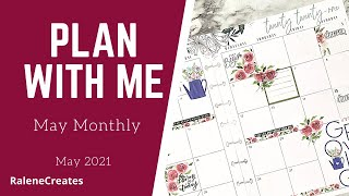 Plan with Me: Happy Planner May Monthly GROWING Flowers RaleneCreates