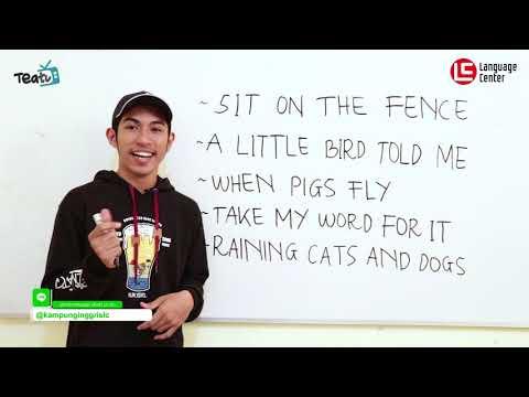5 Contoh Idioms Bahasa Inggris dan Artinya | TEATU with Mr Abdus - Kampung Inggris LC