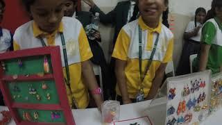 Delhi Public School Vijayawada Science Fair Crafts Bazaar , Science Project with Waste Paper