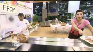 Show chaud à la plancha avec Estelle Denis et le Chef  Darroze - Foire de Paris