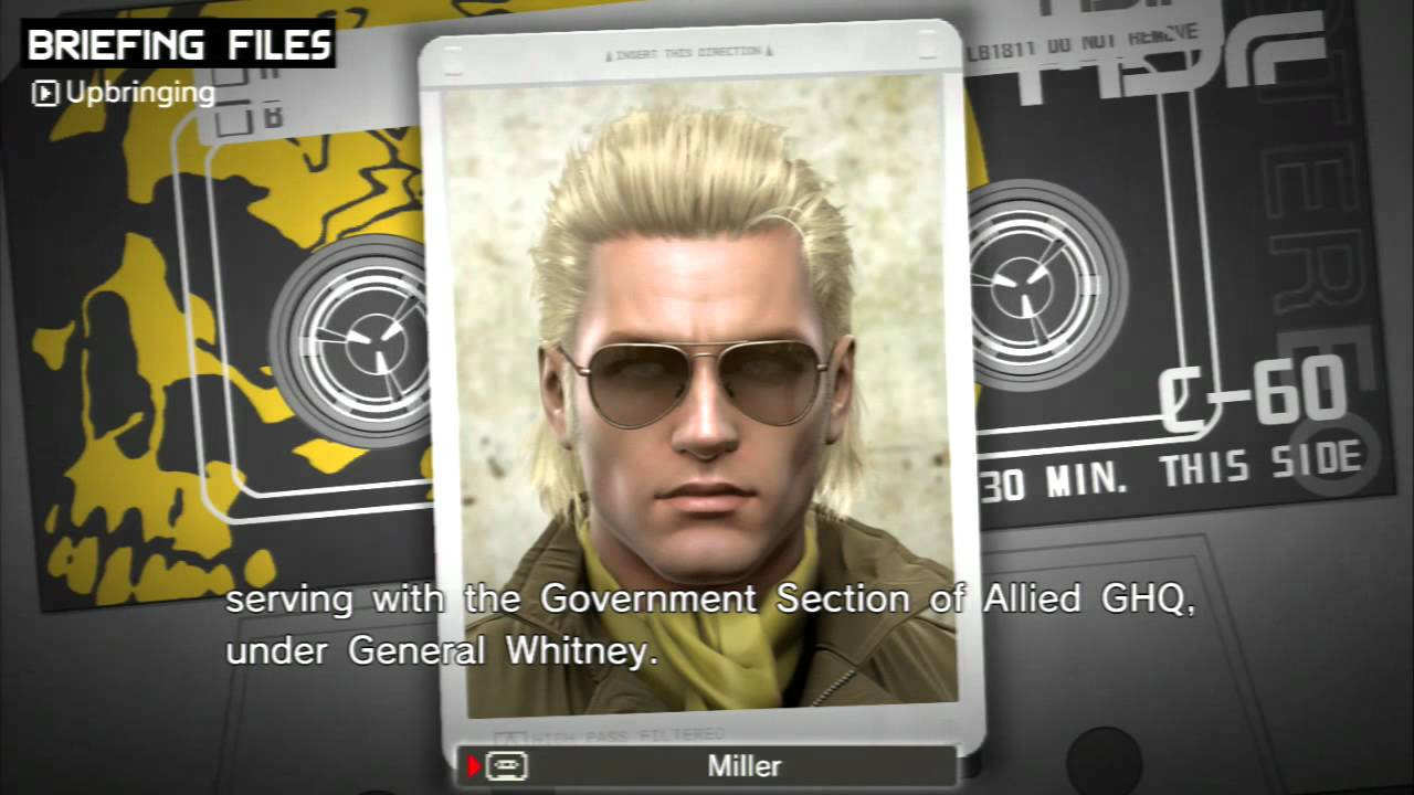 Peace Walker Briefing Files Kazuhira Miller No Menus Youtube Metal gear, metal gear solid, kazuhira miller, master miller, mcdonnell miller, kaz, metal gear solid v, phantom pain, trailer, why are we still here, just on june 13th, 2013, the official konami youtube account uploaded the official, red band trailer for the video game metal gear solid v: peace walker briefing files kazuhira miller no menus