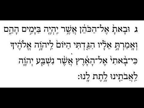 Ki Tavo, 1st Aliyah, Pasuk 3