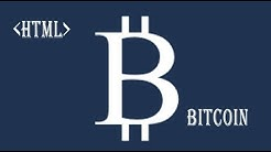 HTML Bitcoin symbol currency