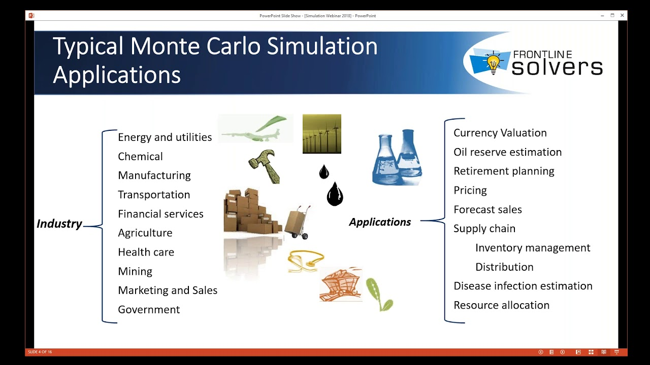 8/16/2018 Overview of Monte Carlo Simulation Applications in Excel Using  Analytic Solver
