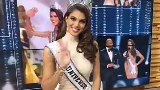 Miss Universe Iris Mittenaere Interview LIVE ...