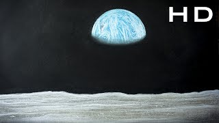 How to Draw Earth from Space with Pastel Pencil Step by Step for Kids - Tutorial for beginners