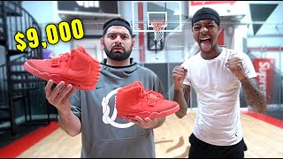 QIAS VS FLIGHT 1v1 FOR $9,000 YEEZY RED OCTOBERS! (Epic Basketball Match Up)