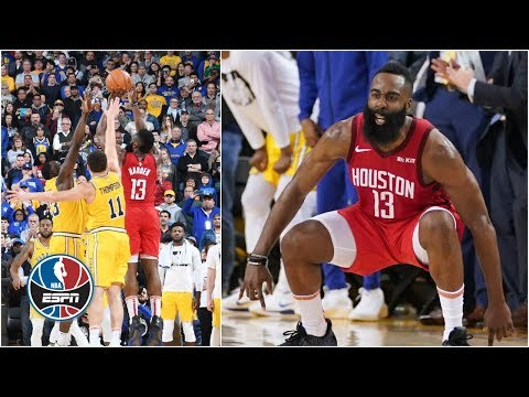 Rockets beat Warriors on James Harden's epic 3-pointer | NBA Highlights