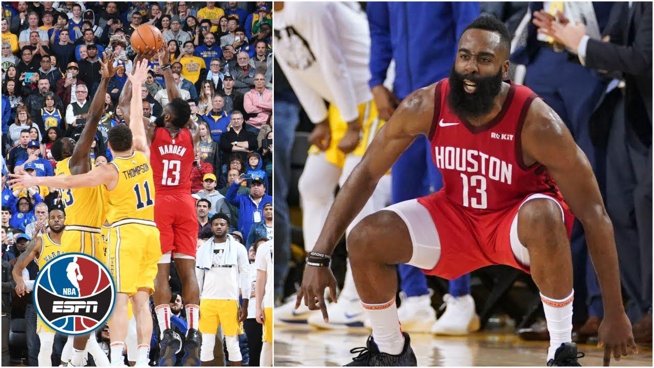 Rockets Beat Warriors On James Harden S Epic 3 Pointer Nba