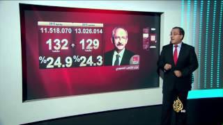 """نتائج شبه نهائية تشير لتقدم """"العدالة والتنمية"""" بانتخابات تركيا"""