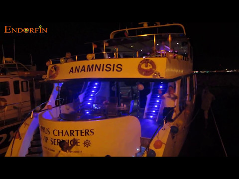LightShow Endorfin Cyprus 9 May Victory Day entertainment performance on a yacht