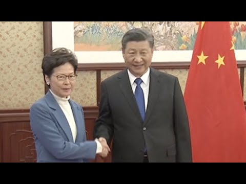 Chinese President Meets HKSAR Chief Executive