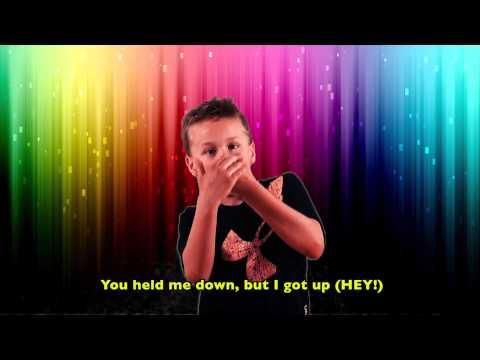 """ASL song """"Roar"""" by Deaf children at KDES"""