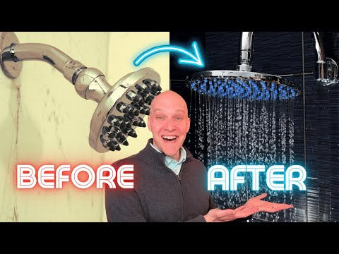 How to install rainfall shower head   Shower extension arm
