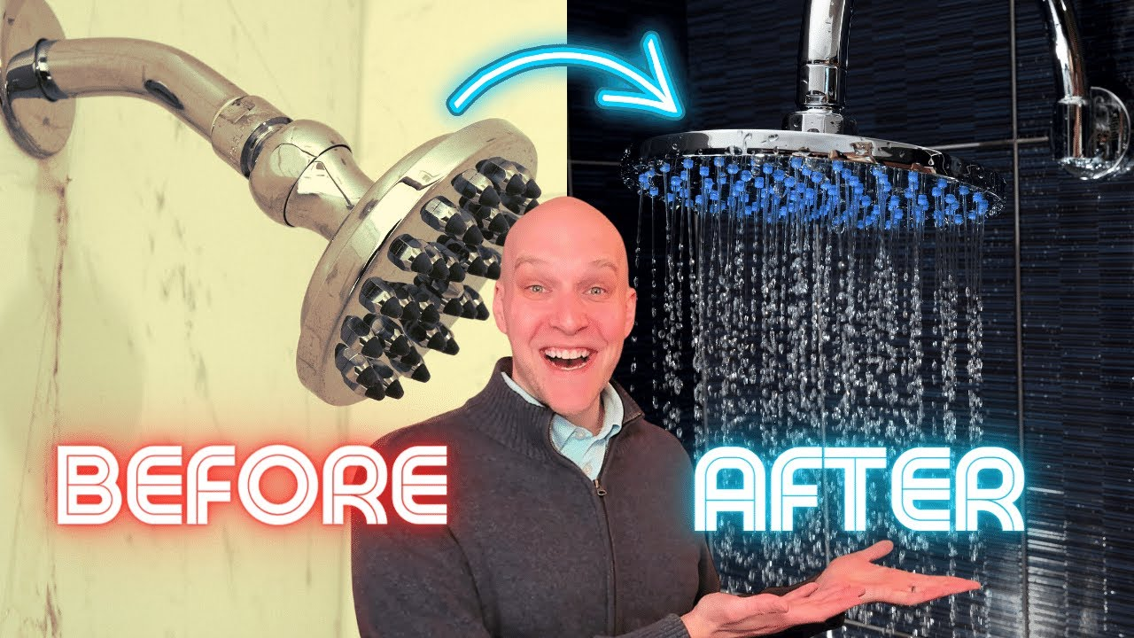 How to install a rainfall shower head | Shower head extension arm ...